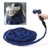 100FT Plastic Green Blue Water Spray Nozzle Sprayers Triple Expandable Flexible Water hose Garden Pipe Set Car washing Plant watering Hoses
