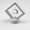 Black White Suspended Floating Display Case Jewellery Ring Coins Gems Artefacts Stand Holder Box Free Shipping ZA3361