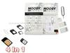 4 in 1 Noosy Nano Sim Card Adapter Sets Micro Standard Sim Card Tools SIM Card Pin Android&Iphone With Retail Box DHL