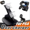Dual chargers for ps4 xbox one wireless controller 2 usb LED Station charging dock mount stand holder for PS4 gamepad playstation with box