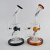 "TORO Oil Rigs Glass Bong Jet Perc Bongs Honeycomb Bubbler Water Pipes Heady Dab Rig Pipe Bongs Percolator Portable Glass Hookahs 7"" Tall"