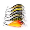 Good Selling 6PCS Simulated Crankbait Lifelike Minnow Hard Baits 3D Printing Plastic Fake Lure 7.6cm 12.7g Artificial Fishing Tackle