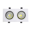 Wholesale- High Brightness Double head Square led downlight Dimmable 10W 14W 18W 24W led cob Recessed ceiling Down light lamp for Home Dec