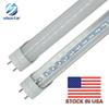 Stock in US + 4ft 1200mm T8 Led Tube Light High Super Bright 18W 20W 22W Warm Cold White Led Fluorescent Bulbs AC110-240V FCC