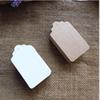 4cm Brown Kraft Paper and White Paper Tags Lace Scallop Head Label Lage Wedding String DIY Blank Price Hang Tag Kraft Gift