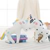 Cute Unicorn Horn Sleep Pillow Baby Kids Plush Toy Sofa Car Cushion Decorative Pillow Children Plush Doll