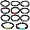 7 Chakra Lava Stone Mala Essential Oil Diffuser Protection Energy Healing Stretch Bracelet Men Women Christmas Gift 16 Styles B348S