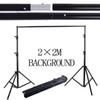 2*2M 6.5FT*6.5FT Photography Background Photo Backdrops Support System Stands studio +carry bag