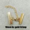 10mm Crimp kc Gold