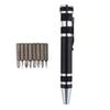 8 In 1 Precision Magnetic Pen Style Screwdriver Screw Bit Set Slotted Phillips Torx V1.5-3.5 Repair Portable DIY Tool MOQ:60PCS