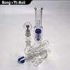 9Arm glass bong glass oil rig thick glass smoking inline perc bongs water pipes joint 14.5mm