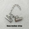 16mm Crimp Rhodium