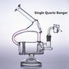 Bong + Single Quartz Banger + Cap + Bowl