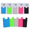 Silicone Wallet Credit ID Card Cash Pocket Sticker Adhesive Holder Pouch Mobile Phone 3M Gadget For Cable eaphone ipad SCA348
