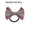 baseball hair bow
