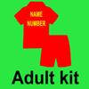 Erwachsener Kit mit Namensnummer