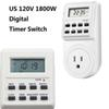 Digital Timer Switch US 120V 1800W Smart Home LCD Screen Socket Timer Plug Power Supply Week Clock Setting Memory Function By USPS