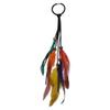 idealway New Handmade Leather Rope Colorful Feather Headbands Wood Beads Boho Hair Accessories