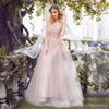 Top Quality Bohemia Lace Pink Wedding Dresses Sexy Backless Fashion Brand Evening Dress Sleeveless A Line Wedding