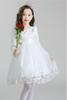 Flower Girl Dress Fashion Princess Dress Floral.Sweet.Romantic.Nylon lace.Lovely Bowknot.Pure princess dress.Luxurious atmosphere. beautiful