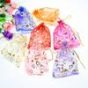 Hot Sales Beautiful gift bag Organza Jewelry Pouch Bags with Mixed Color Size 10*12cm Free shipping