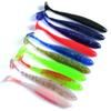 10pcs 2.4g 8.5cm Soft Lure Japan Shad Worm Swimbaits Jig Head Fly Fishing Silicon Rubber Fish Fishing Lure