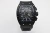 high quality Man luxury 011 watch Brand rubber black case 43mm Automatic machinery watch