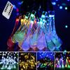 Icicle Battery Powered String Lights LED Water Drop 30leds 8 Modes Flashing for Home Outdoor Garden Lawn Patio Holiday Christmas Decorations