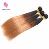 Fantasybeauty Peruvian Virgin Hair Ombre Straight Weave 3 Bundles T1B 27 Two Tone Peruvian Human Virgin Hair Unprocessed Ombre Straight