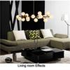 Free Shipping Moden art pendant light gold black magic bean led lamp living dining room shop led striplight glass pendant lamp fixtures