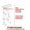 14 Главы L85 * W28cm Прямоугольные