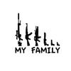 Hot Sale Car Stying Cool Graphics My Gun Family Bumper Sticker Window Funny Decal Car Accessories Vinyl Jdm
