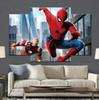 spider man homecoming iron man 2 Frameless Paintings 4pcs (No Frame)