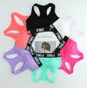 PINK Sport Bras Running Sports Shirts for Yoga Gym bras Push Up Bra Fitness Patchwork Tops Summer pink Strap Bra