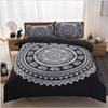 Bohemia Style 3pcs Polyester Printing Bedding Set 1pcs Duvet Cover Set 2 Pillowcase Queen Size Bedlinen Bedclothes