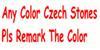 Alla färger tjeckiska stenar