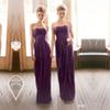 Cheap Bridesmaid Dresses Long 2016 Sexy Sweetheart Neck Stunning Purple A Line Empire Backless Chiffon Country Maternity Bridesmaids Dress