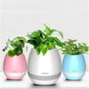 Multifunction smart Mini Flower Pot Plastic Bluetooth Speaker Music USB charging Decoration With Built in Battery Home Office Decor Planter