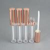 Free shipping 6ml lip gloss tubes,Rose Gold Cap,Cylinder Lip stick packing container,Empty DIY lip balm bottle 50pc lot