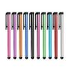 Wholesale 500pcs lot Universal Capacitive Stylus Pen for Iphone5 5S Touch Pen for Cell Phone For Tablet Different Colors