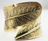 금빛 날개 잎 팔목 팔찌 팔찌