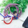 Plastic spring Protective sleeve Mobile Tablet transparent Spiral Cord Protector for Phone Charger Earphone Cords