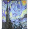 Wholesale- Van Gogh The Starry Night Printed Star Sky Shower Curtains Waterproof Polyester Fabric Bathroom Curtain With 12 Hooks 180x180cm