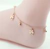 Crystal Daisy Lucky Four Leaves Clover Charm Multilayer Sexy Foot Bracelet Leg Chain Women Titanium Stainless Steel Rose Gold Fashion Ankle