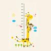 Removable PVC Children Wall Stickers Large Cartoon Giraffe Height Growth Chart Decal For Kids Room Decoration