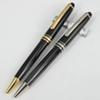 Pure Pearl M163 Super AAA Quality Office School Stationery Pure Black Resin and Golden   Silver Clip Luxury MB Ballpoint Pen