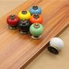 Colored Ceramic Drawer Knobs Cabinet Cupboard Handle Simple Design Knobs Single Hole Handles Furniture Hardware