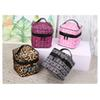 Pink Letter Makeup Bag Pink Cosmetic Bag Storage Women Travel Make Up Bag Double Zipper Cosmetic Box Toiletry Handbag