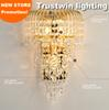 big K9 wall luminaire bracket lamp crysting crystalline chandelier gold crystal vintage wall light lamp sconce LED optional
