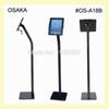 "Wholesale- for ipad 2 3 4 air air2 pro 9.7"" floor stand with security lock enclosure bracket display on bank trade fair exhibition store"